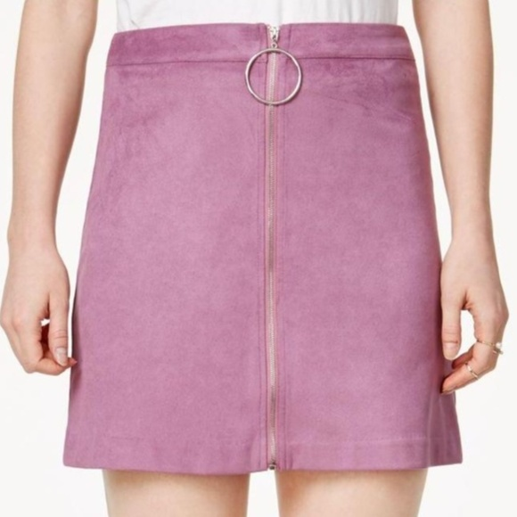 8a62d4ae3 Kensie Skirts | Nwt Nordstrom Mauve Suede Zipper Dress Mini Skirt ...
